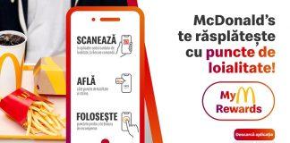 McDonald's lanseaza MyM Rewards program de loialitate pin aplicatie de mobil