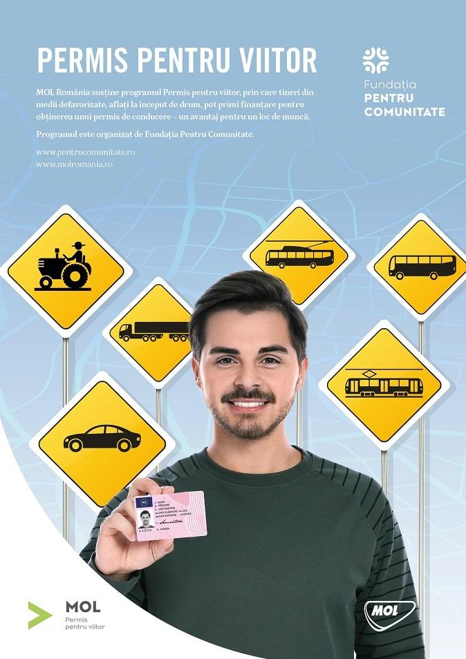 Permis pentru viitor - MOL ajuta financiar 36 de tineri din medii defavorizate pentru otinerea permisului de conducere