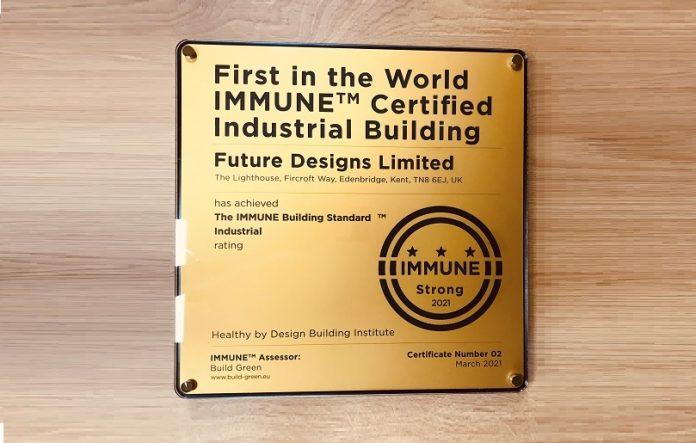 Prima cladire industriala din lume certificata cu IMMUNE Building Standard FUTURE Designs