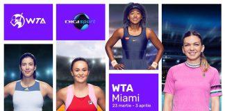Turneul WTA Miami in direct la Digi Sport