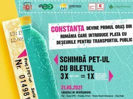 În Constanța se lansează campania Schimbă PET-ul cu biletul